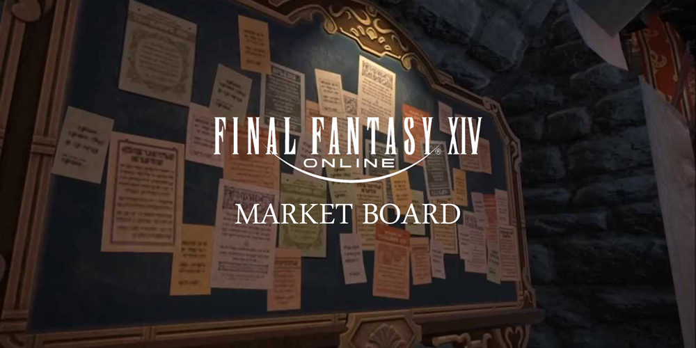 FFXIV Market Board - Trade everything with this amazing tool