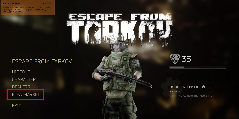 Escape from Tarkov Flea Market Origin