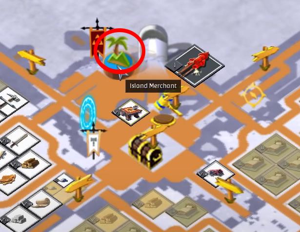 Albion Online island merchant icon