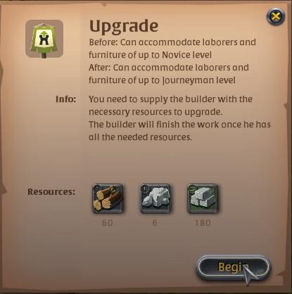 Albion Online Upgrade Menu