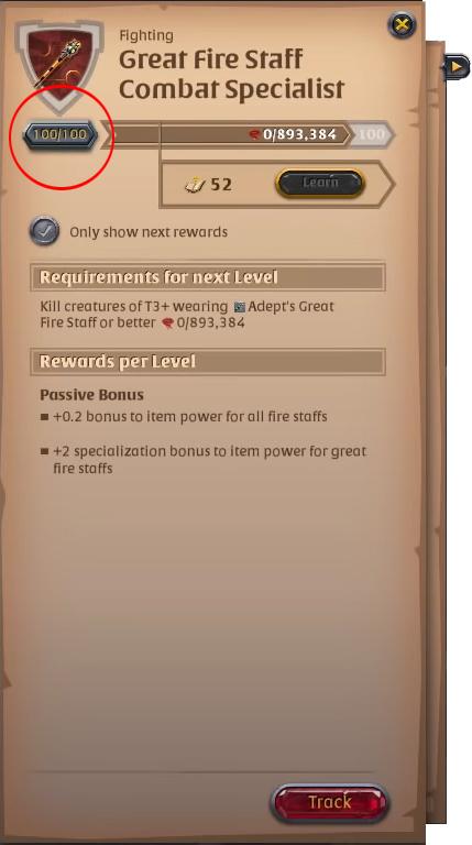 Re-Spec window found in the skill tree