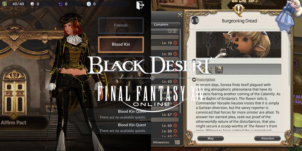 Black Desert vs Final Fantasy XIV tutorial RNG