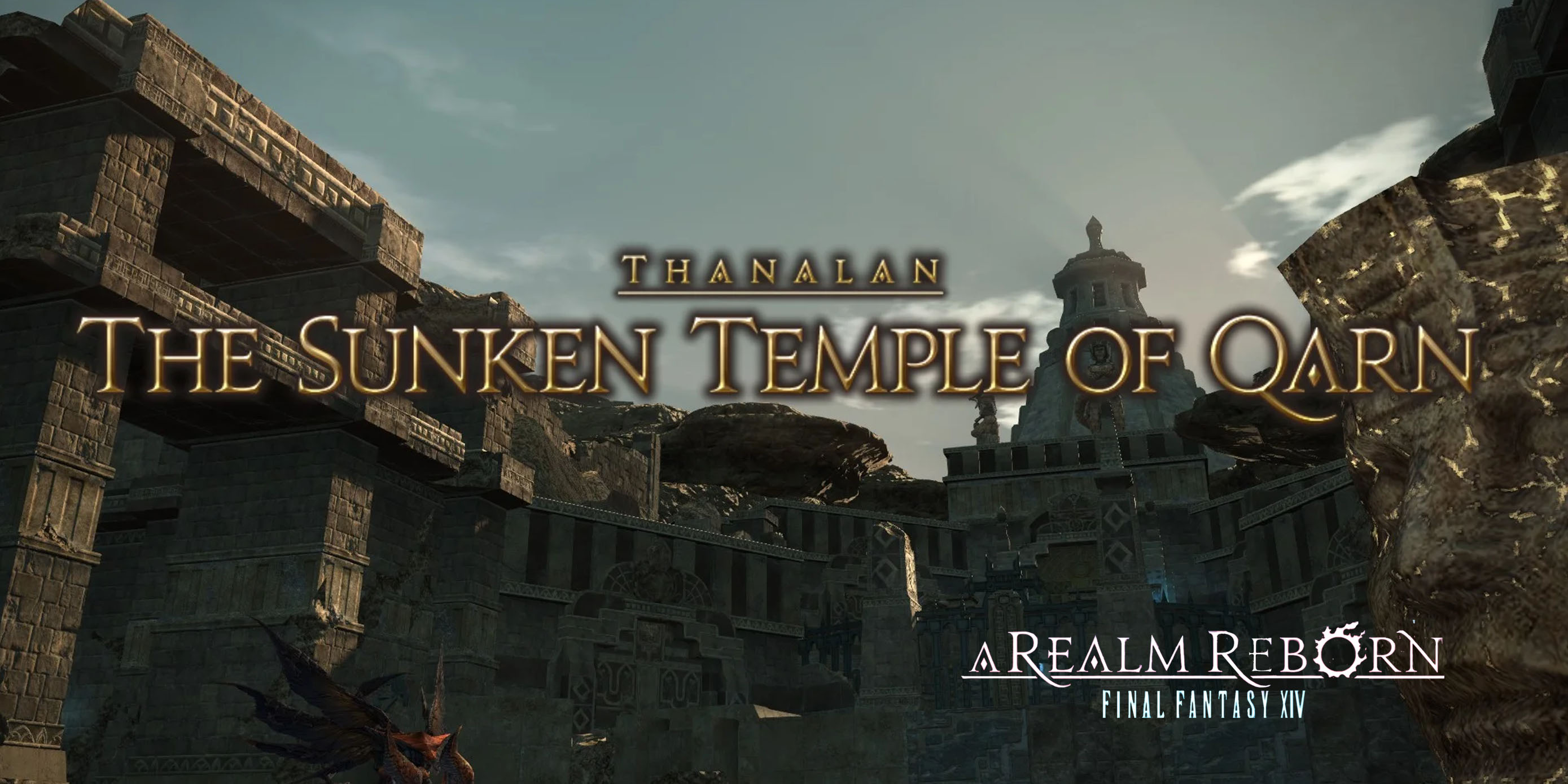 The sunken Temple of Qarn delivery point
