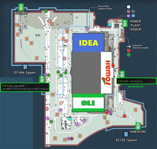 Escape from Tarkov exits links icon