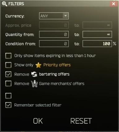 EfT Flea Market Price Difference