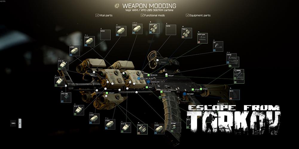Escape from Tarkov weapon modding