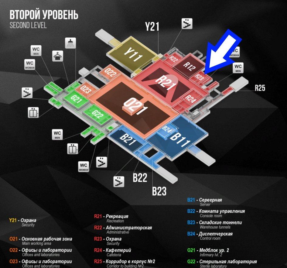 Escape from Tarkov Lab Map