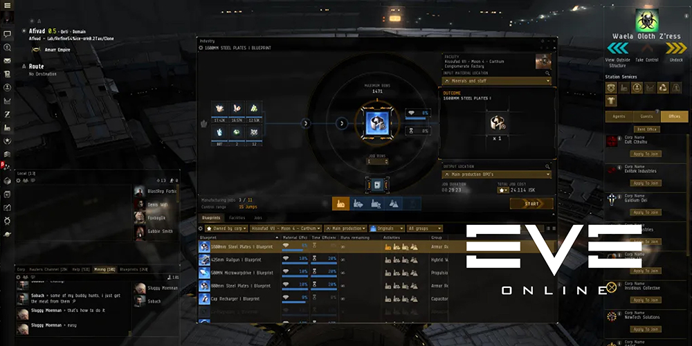 Eve Online Manufacturing