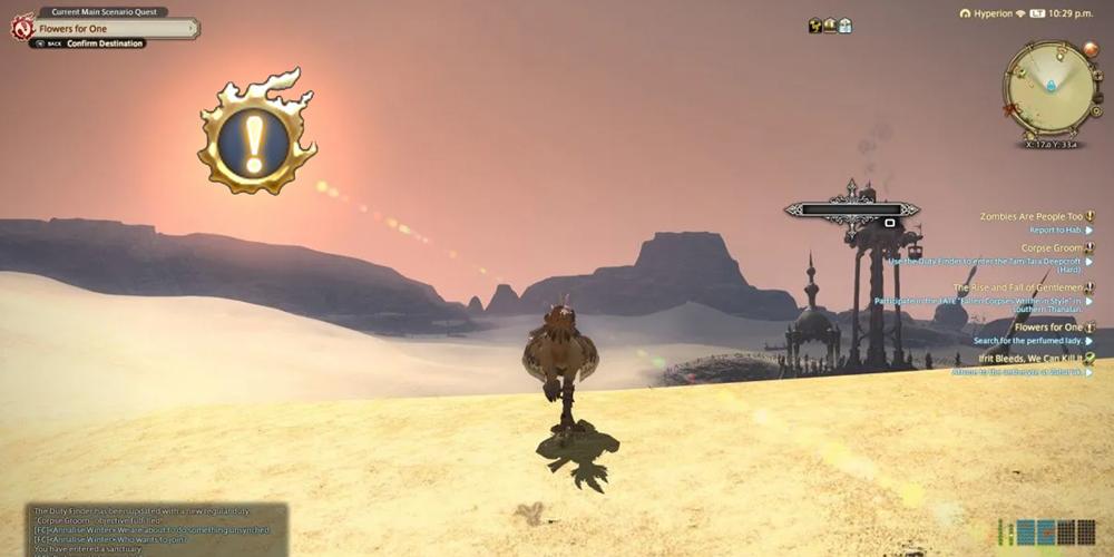 FFXIV Main Scenario Quest leveling guide food