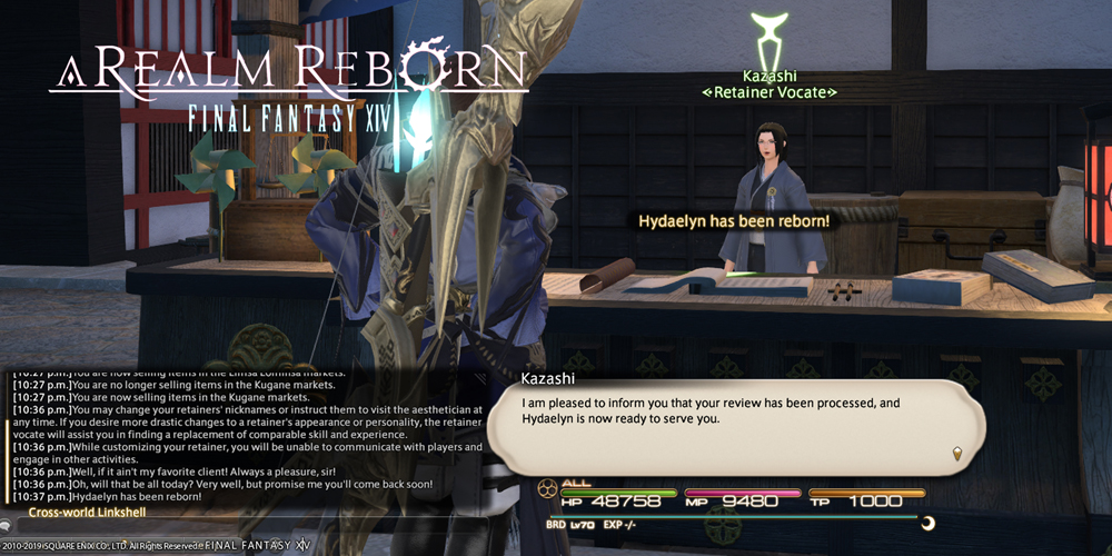 FFXIV characters to hire a retainer