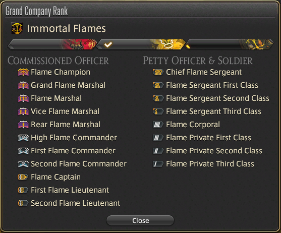FF14 Grand Company rank alts turn ins