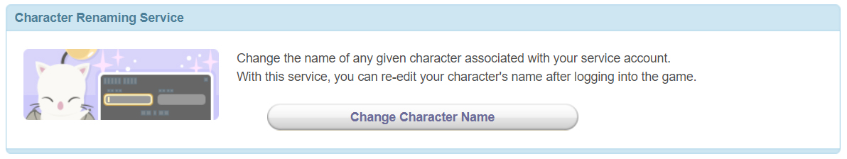 Final Fantasy XIV Character Renaming Service