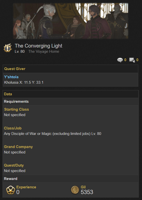 The Converging Light quest Trust System