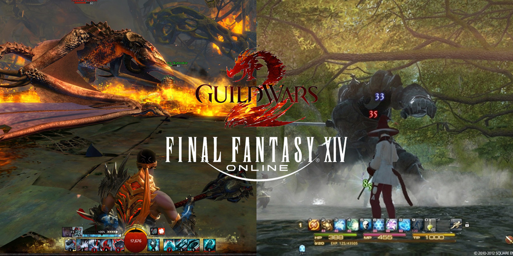 FFXIV and GW2 gameplay WvW