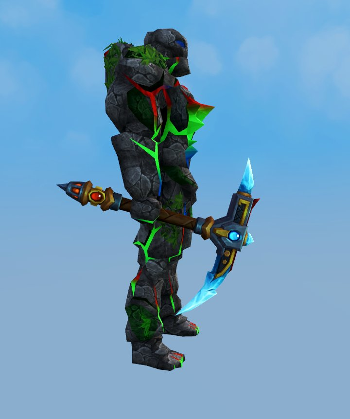 Once you have access to the Pickaxe of Earth and Song, it will never stay in your inventory. Show it off!