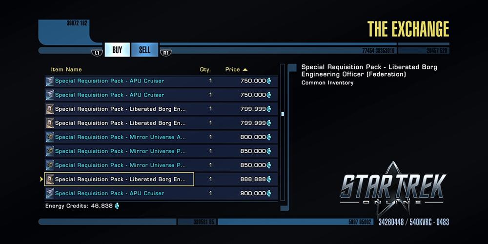 Star Trek Online Energy Credits The Exchange