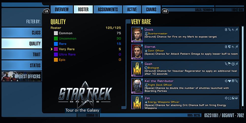 Star Trek Energy Credits duty officers